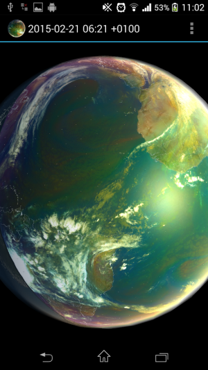 Androidアプリ「Earth Viewer」のスクリーンショット 2枚目