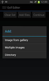 Androidアプリ「EXIF Tag Editor (Photo)」のスクリーンショット 3枚目