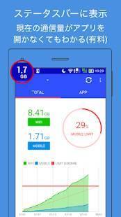 Androidアプリ「通信量モニター」のスクリーンショット 4枚目