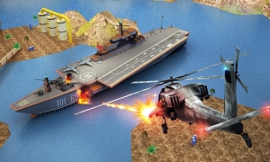 Androidアプリ「Gunship Counter Shooter 3D」のスクリーンショット 1枚目