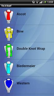 Androidアプリ「スカーフやショールProを結ぶ」のスクリーンショット 1枚目