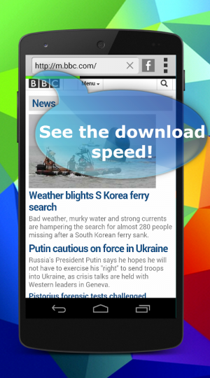 Androidアプリ「Speed Internet Browser」のスクリーンショット 5枚目