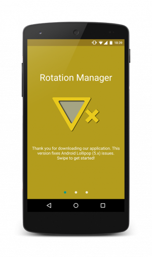 Androidアプリ「Rotation Manager - Control ++」のスクリーンショット 1枚目