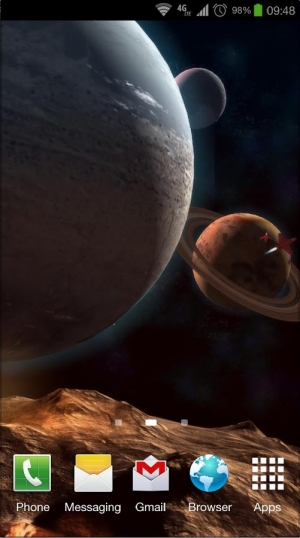 Androidアプリ「Planetscape 3D Live Wallpaper」のスクリーンショット 3枚目