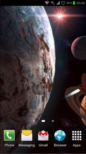 Androidアプリ「Planetscape 3D Live Wallpaper」のスクリーンショット 5枚目