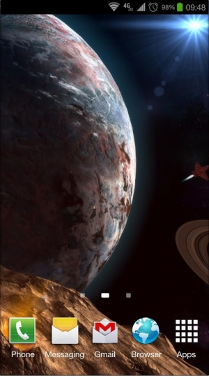 Androidアプリ「Planetscape 3D Live Wallpaper」のスクリーンショット 1枚目