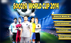 Androidアプリ「Soccer World Cup 2014」のスクリーンショット 1枚目