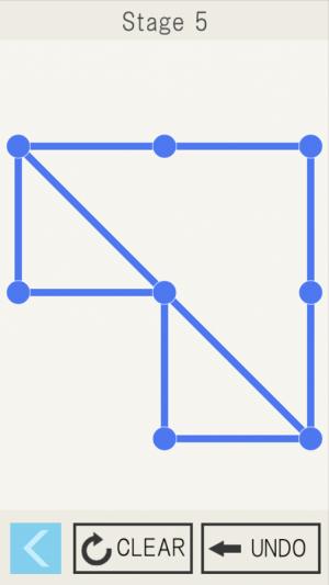 Androidアプリ「一筆書き~自分で作ったステージが遊べるパズルゲーム~」のスクリーンショット 5枚目