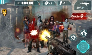 Androidアプリ「Zombie Sniper- City Game3D」のスクリーンショット 1枚目
