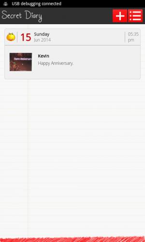 Androidアプリ「Secret Diary」のスクリーンショット 5枚目