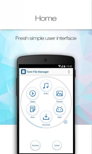 Androidアプリ「Tomi File Manager (Explorer)」のスクリーンショット 1枚目