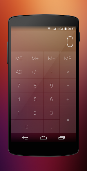 Androidアプリ「Crystal Calculator with Wear」のスクリーンショット 1枚目