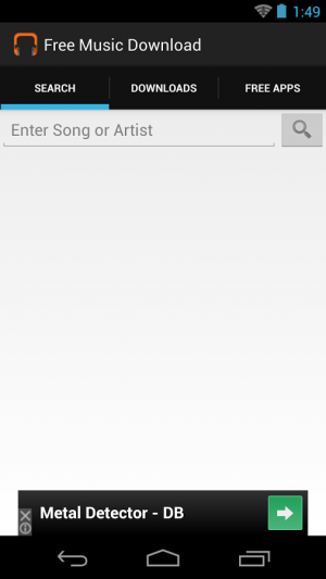 Androidアプリ「無料音楽ダウンロード」のスクリーンショット 1枚目