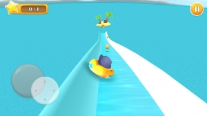Androidアプリ「South Surfers 3D : Water Slide」のスクリーンショット 1枚目