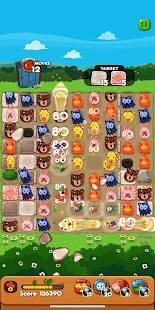 Androidアプリ「LINE ポコポコ - うさぎのポコタとクローバーやチェリーを集めろ!ダンジョンでも遊べる無料パズル」のスクリーンショット 3枚目