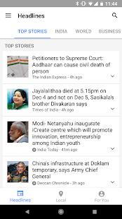 Androidアプリ「Google ニュースと天気」のスクリーンショット 2枚目