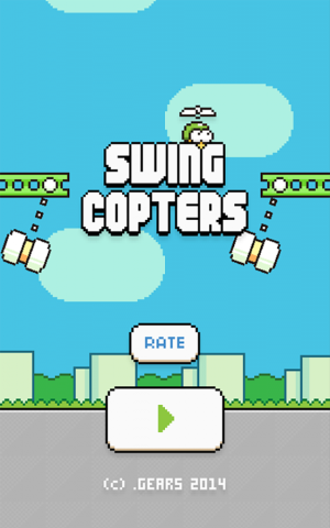 Androidアプリ「Swing Copters」のスクリーンショット 5枚目