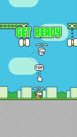 Androidアプリ「Swing Copters」のスクリーンショット 2枚目