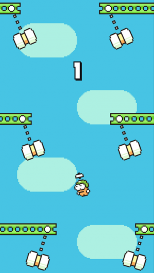 Androidアプリ「Swing Copters」のスクリーンショット 3枚目