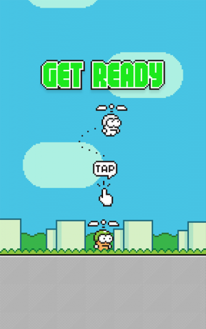 Androidアプリ「Swing Copters」のスクリーンショット 4枚目