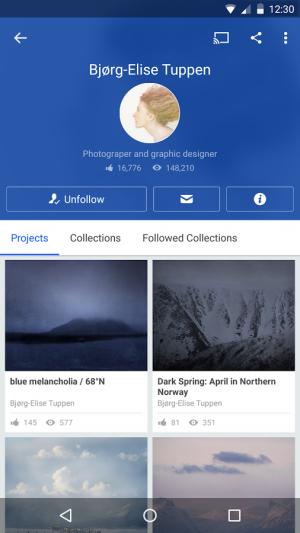 Androidアプリ「Behance」のスクリーンショット 5枚目
