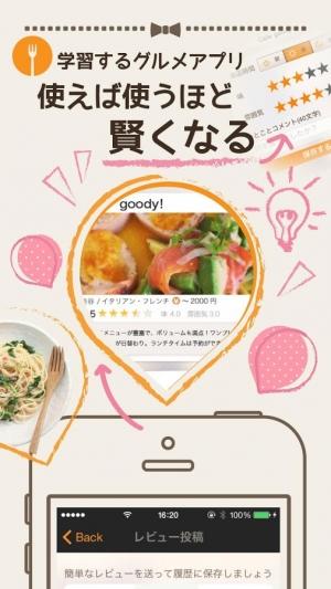 Androidアプリ「簡単グルメ検索goody!〜カフェやランチ探しが楽になる!〜」のスクリーンショット 2枚目