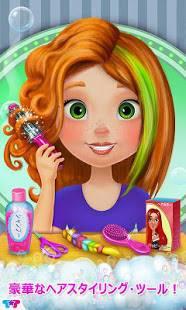 Androidアプリ「楽しいヘアサロン-女の子の変身」のスクリーンショット 3枚目