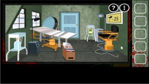 Androidアプリ「狂気の部屋脱出」のスクリーンショット 1枚目