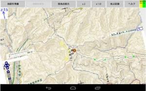 Androidアプリ「山ルートナビ」のスクリーンショット 1枚目