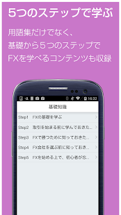 Androidアプリ「FX 用語集 for androidアプリ-初心者用FX解説」のスクリーンショット 3枚目