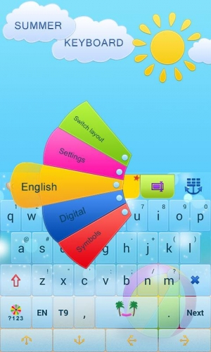 Appliv】GO Keyboard Summer Time Theme