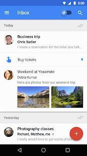 Androidアプリ「Inbox by Gmail」のスクリーンショット 1枚目