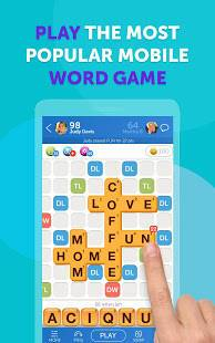 Androidアプリ「Words With Friends – Word Puzzle」のスクリーンショット 1枚目