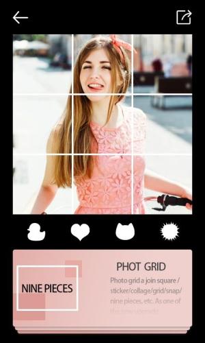 Androidアプリ「photo grid square insta pic」のスクリーンショット 2枚目