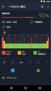 Androidアプリ「Runtastic 睡眠アプリ Sleep Better: 眠りの質をスリープベターで毎日記録」のスクリーンショット 2枚目