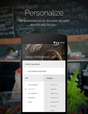 Androidアプリ「Yummly Recipes & Shopping List」のスクリーンショット 3枚目