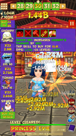 Androidアプリ「Tap Tap Infinity - Idle RPG」のスクリーンショット 3枚目