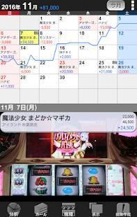 Androidアプリ「ぱち簿 パチンコ&パチスロ収支管理」のスクリーンショット 1枚目