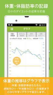 Androidアプリ「ダイエットアプリ「あすけん 」カロリー計算・食事記録・体重管理でダイエット」のスクリーンショット 5枚目
