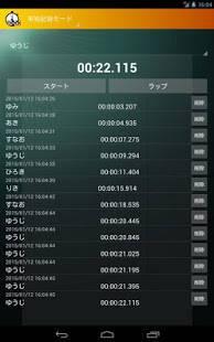 Androidアプリ「ランナー登録型複数用ストップウォッチ「mStopWatch」」のスクリーンショット 4枚目