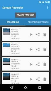 Androidアプリ「Lollipop Screen Recorder」のスクリーンショット 2枚目