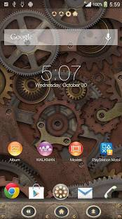 Androidアプリ「XPERIA™ Steampunk Theme」のスクリーンショット 1枚目