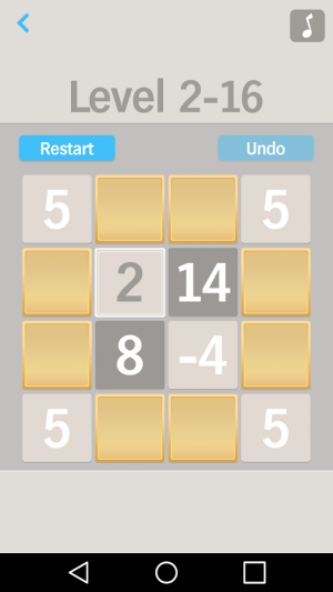 Androidアプリ「One by One Number puzzle game」のスクリーンショット 5枚目