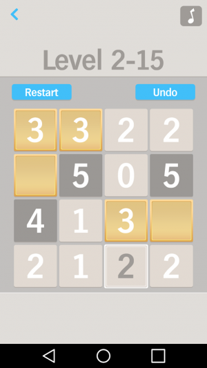 Androidアプリ「One by One Number puzzle game」のスクリーンショット 4枚目