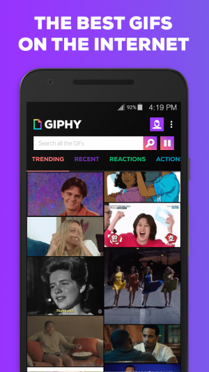 Androidアプリ「GIPHY. All the GIFS」のスクリーンショット 1枚目