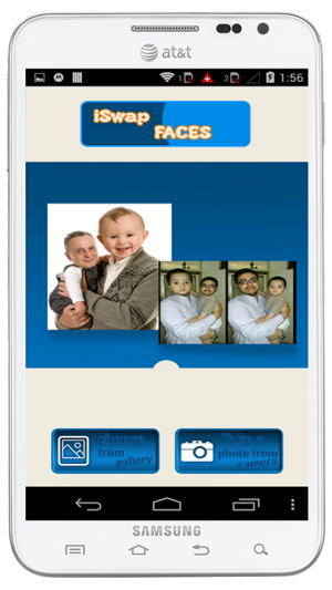Androidアプリ「iSwap Faces」のスクリーンショット 1枚目