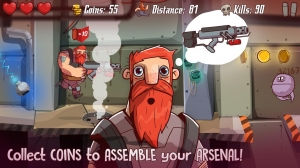 Androidアプリ「SpaceBeard - Survival Shooter」のスクリーンショット 2枚目