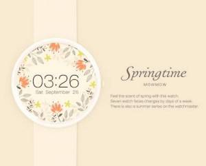 Androidアプリ「Springtime watchface by Mowmow」のスクリーンショット 2枚目