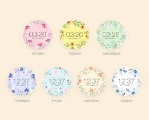 Androidアプリ「Springtime watchface by Mowmow」のスクリーンショット 4枚目
