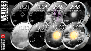 Androidアプリ「Weather Animate for Watchmaker」のスクリーンショット 4枚目